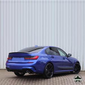 Cstar PP Heckdiffusor Performance Glanz Schwarz passend für BMW G20 G21 M Paket