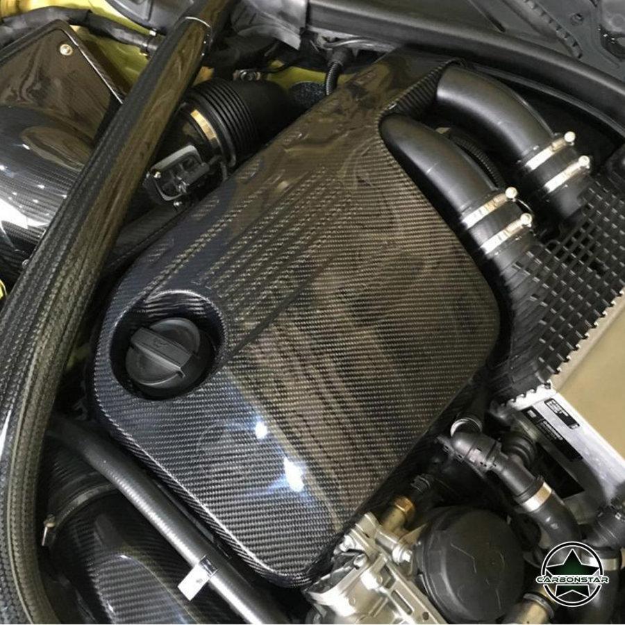 Cstar Carbon Gfk Motorabdeckung passend für BMW F80 M3 F82 F83 M4 F82 M2 Competition