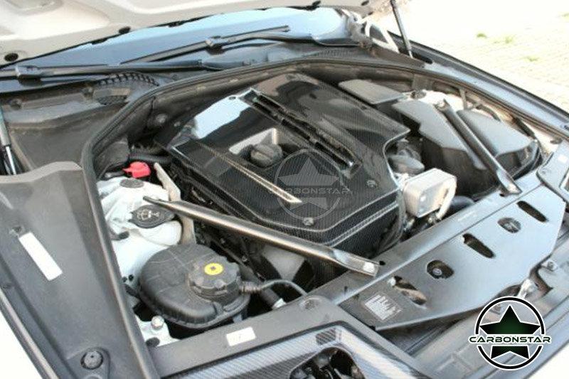 Cstar Carbon Gfk Motorabdeckung passens für BMW F10 F11 528i 535i 550i