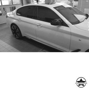 Cstar ABS Glanz Weiß Austausch Spiegelkappen Typ M5 passend für BMW G30 G31