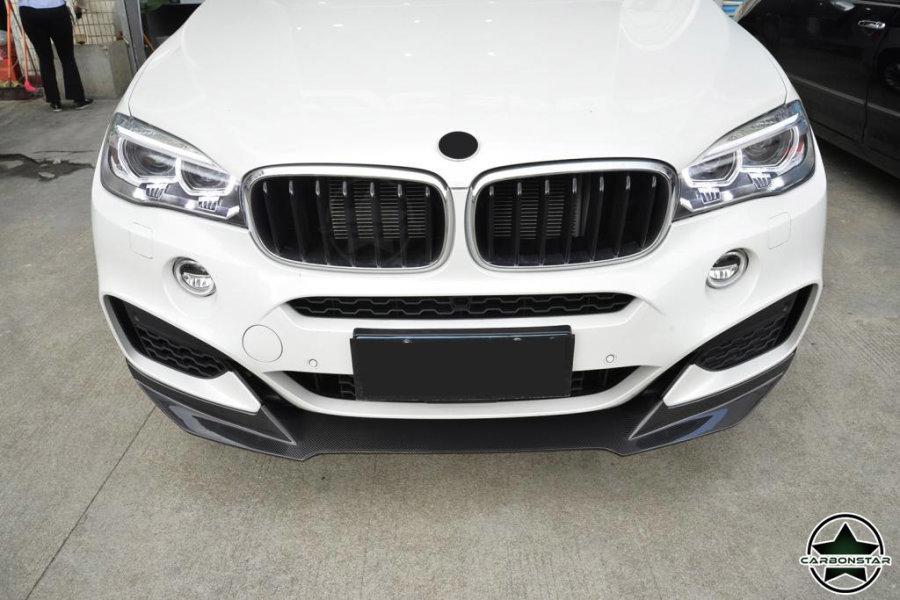 Cstar Carbon Gfk Frontlippe passend für BMW X6 F16 X6M M Paket