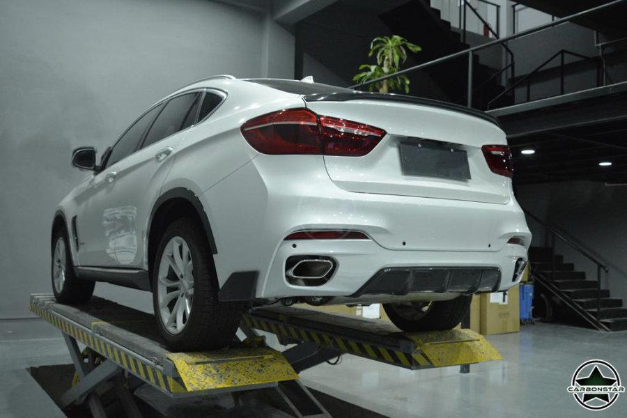 Cstar Carbon Gfk Performance Diffusor passend für BMW X6 F16 X6M M Paket