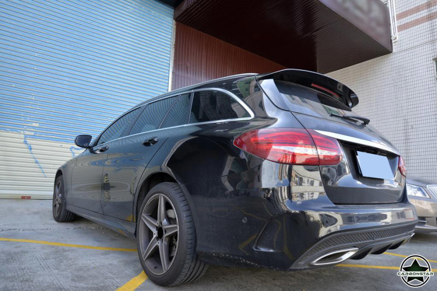 Cstar Gfk Dachspoiller für Mercedes Benz S205 W205 T...