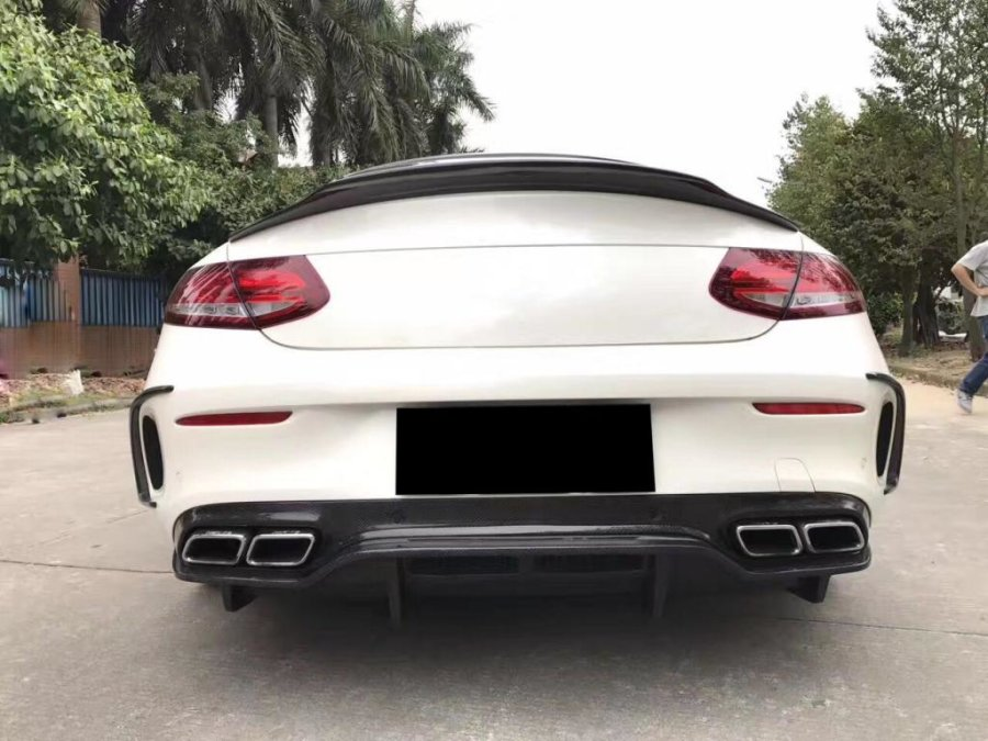 Cstar Carbon Gfk Heckdiffusor PSM für Mercedes Benz W205 C205 C63 C63S AMG Coupe