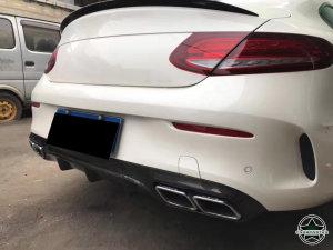Cstar Carbon Gfk Heckdiffusor Typ OE für Mercedes Benz W205 C205 C63 AMG Coupe C-Klasse