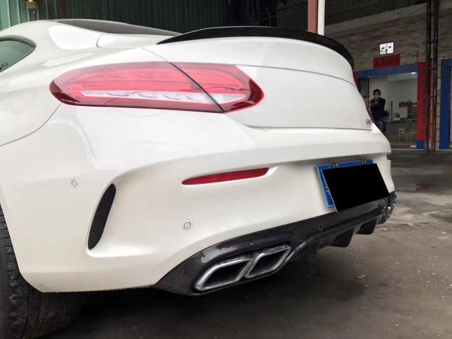 Cstar Carbon Gfk Spoiler OEM Typ für Mercedes Benz W205 C205 C63 -  Coupe