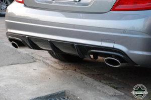 Cstar Gfk Heckdiffusor OE für Mercedes Benz W204 C204 C63 AMG LIMO COUPE VMOPF