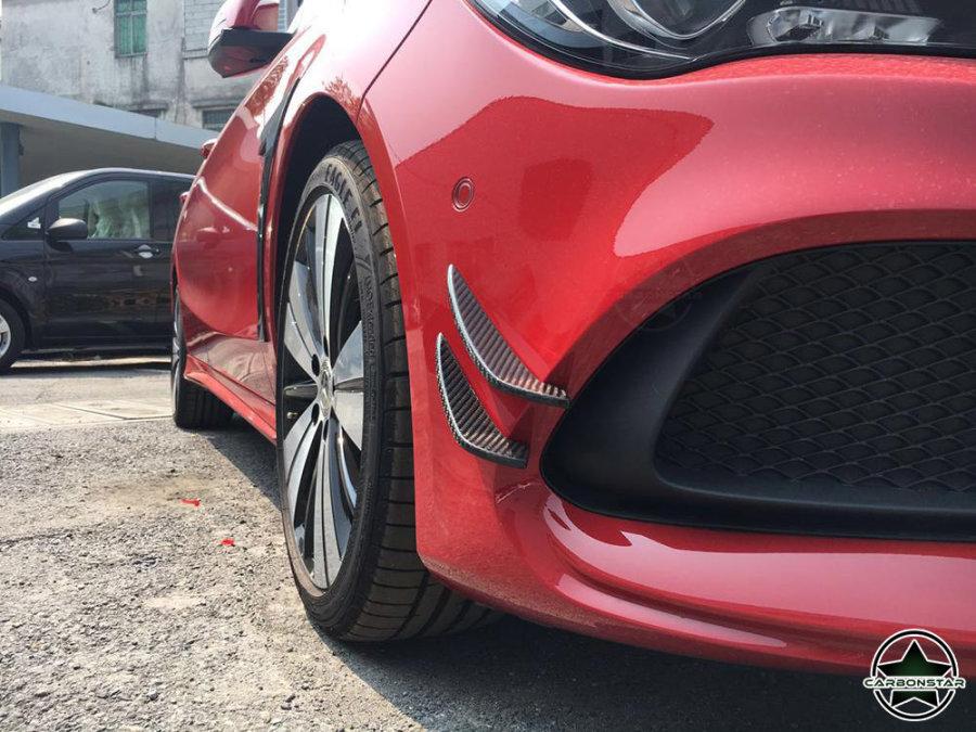 Cstar Carbon Gfk Canards Fins Stoßstange vorne für Mercedes Benz C117 X117 AMG 5 Türer