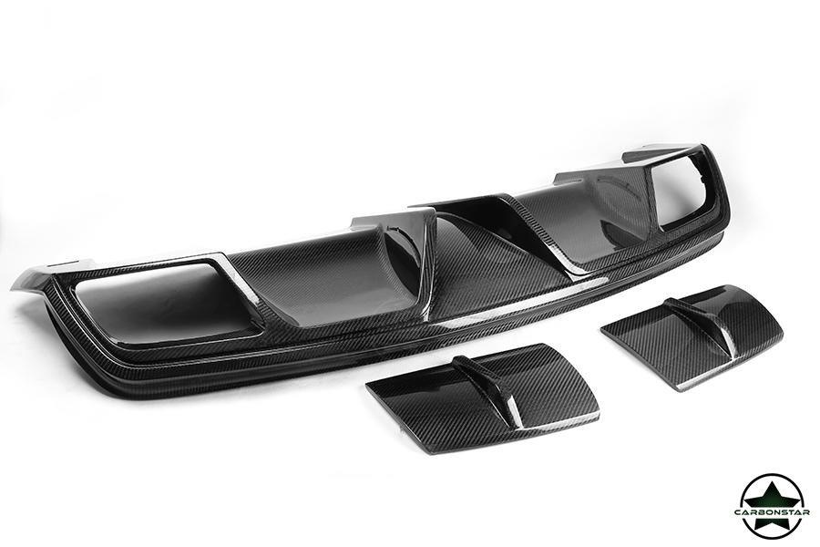Cstar Carbon Gfk Heckdiffusor Typ P für Mercedes Benz C117 X117 CLA ohne AMG Paket