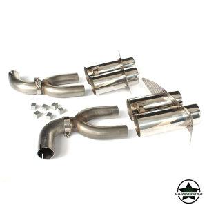 Cstar Edelstahl Auspuff Endrohre 4 Rohr 2 x Duplex Doppel für Mercedes Benz CLA C117 CLA45 ohne AMG Paket