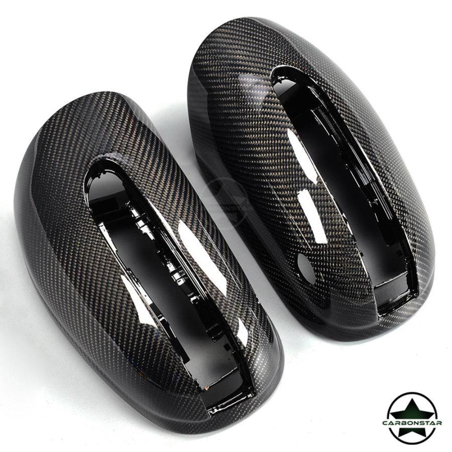 Cstar Carbon ABS Spiegelkappen für Mercedes Benz S Klasse W220 +AMG