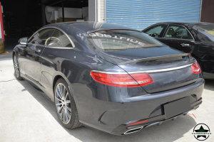 Cstar Carbon Gfk Heckspoiler Spoiler für Mercedes Benz W222 C217 S500 S550 S63 S65 AMG Coupe