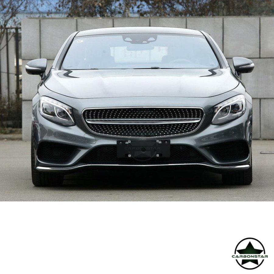 Cstar Carbon Gfk Frontlippe 3tlg. Typ B für Mercedes Benz W222 S500 S550 Coupe 2 Türer