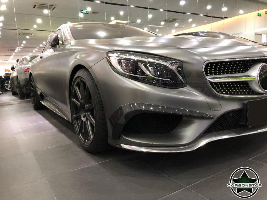Cstar Carbon Gfk Fins Canards vorne Typ B für Mercedes Benz W222 S500 S550 Coupe 2 Türer