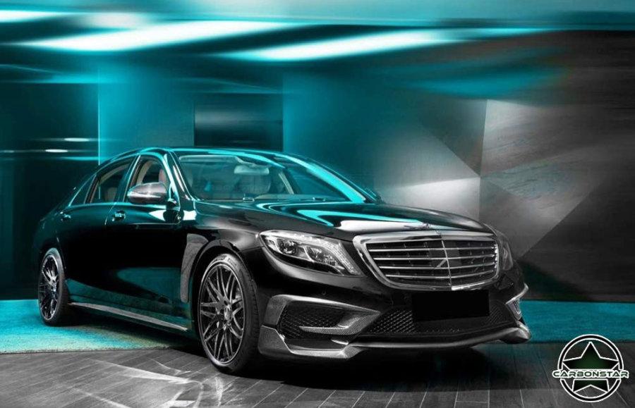 Cstar Carbon Gfk Fins Abdeckung Stoßstange vorne für Mercedes Benz AMG 4 Türer Limo AMG / nur S63)