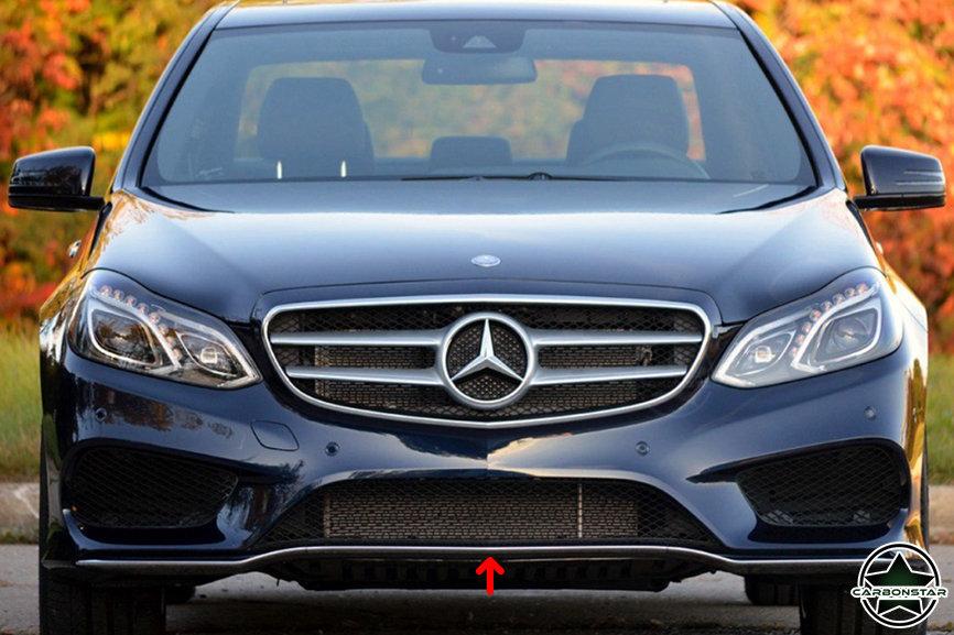 Cstar Carbon Gfk Frontlippe Spoiler vorne für Mercedes Benz W212 Limo 4 Türer AMG Sport