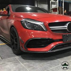 Cstar Carbon Gfk Leisten Stoßstange vorne 6tlg. für Mercedes Benz W176 Vor Facelift auch A45 AMG
