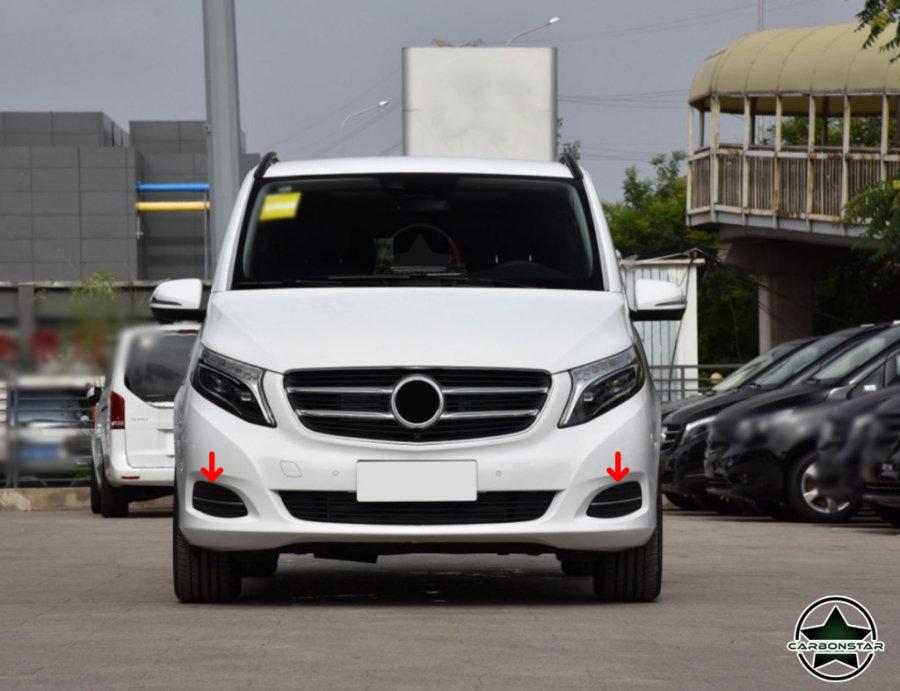 Cstar Carbon Nebelscheinwerfer Fog Light Abdeckung Cover für Mercedes Benz V Klasse
