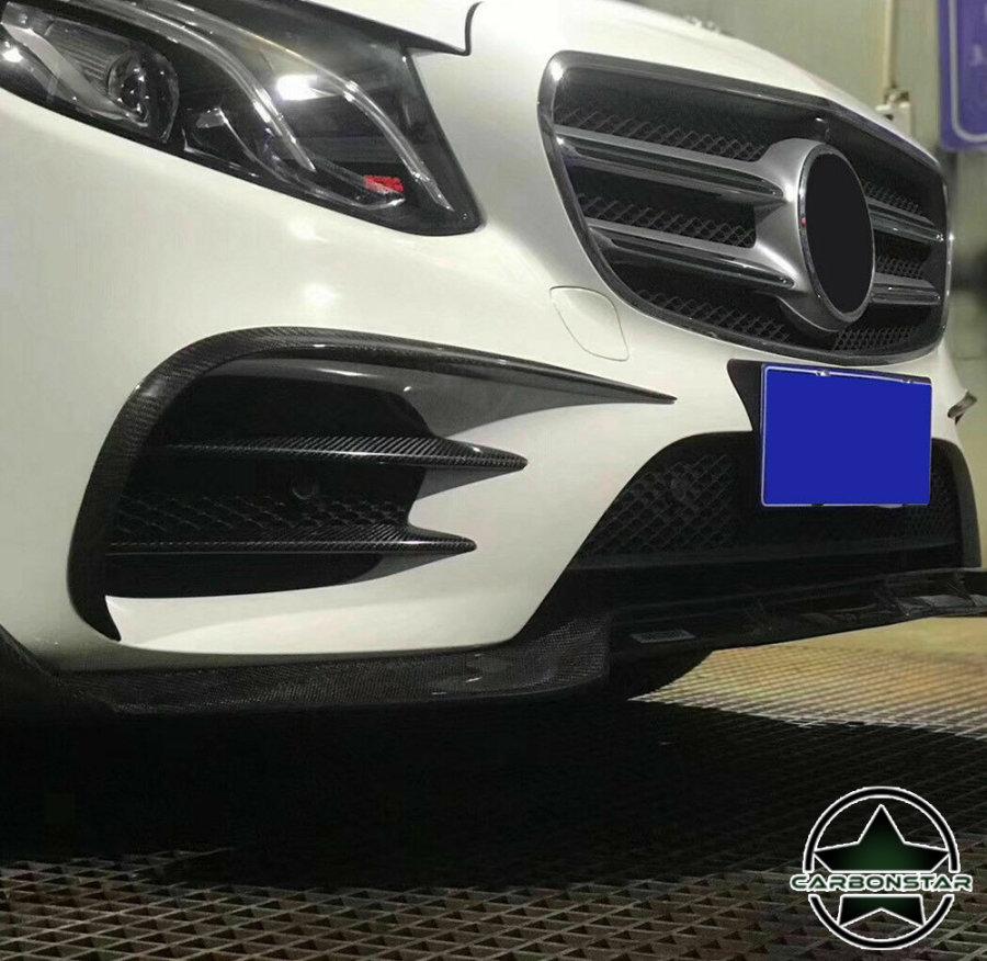 Cstar Carbon Gfk Canards Abdeckung Stoßstange vorne für Mercedes Benz W213 AMG E Klasse