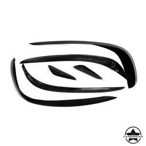 Cstar Carbon Gfk Canards Abdeckung Stoßstange vorne für Mercedes Benz W212 E Klasse AMG