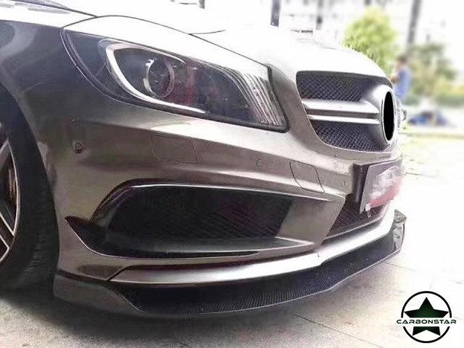 Cstar Carbon Gfk Frontlippe Typ AW für Mercedes Benz W176 A45 Performance Paket