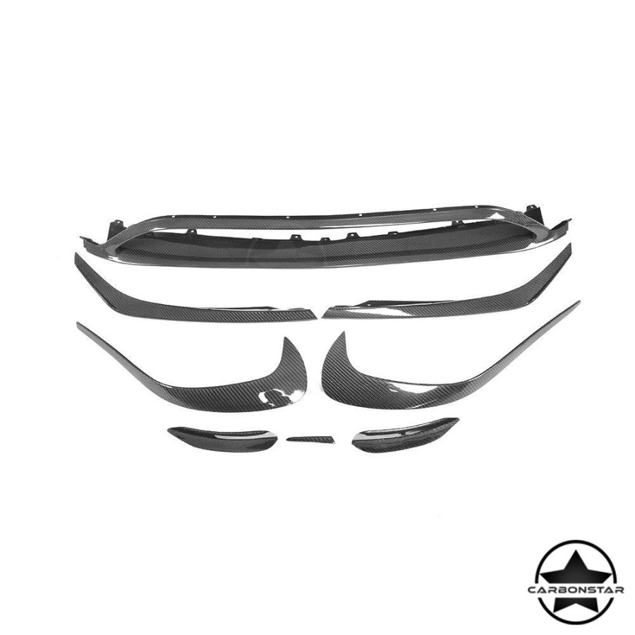 Cstar Carbon Gfk Frontlippe Canards Ansätze Paket für Mercedes Benz W176 A45 AMG Paket
