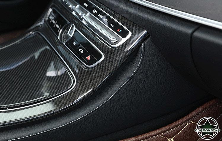 Cstar Carbon Gfk Innenraum Abdeckung MIttelkonsole für Mercedes Benz W213 S213 C E Klasse + AMG