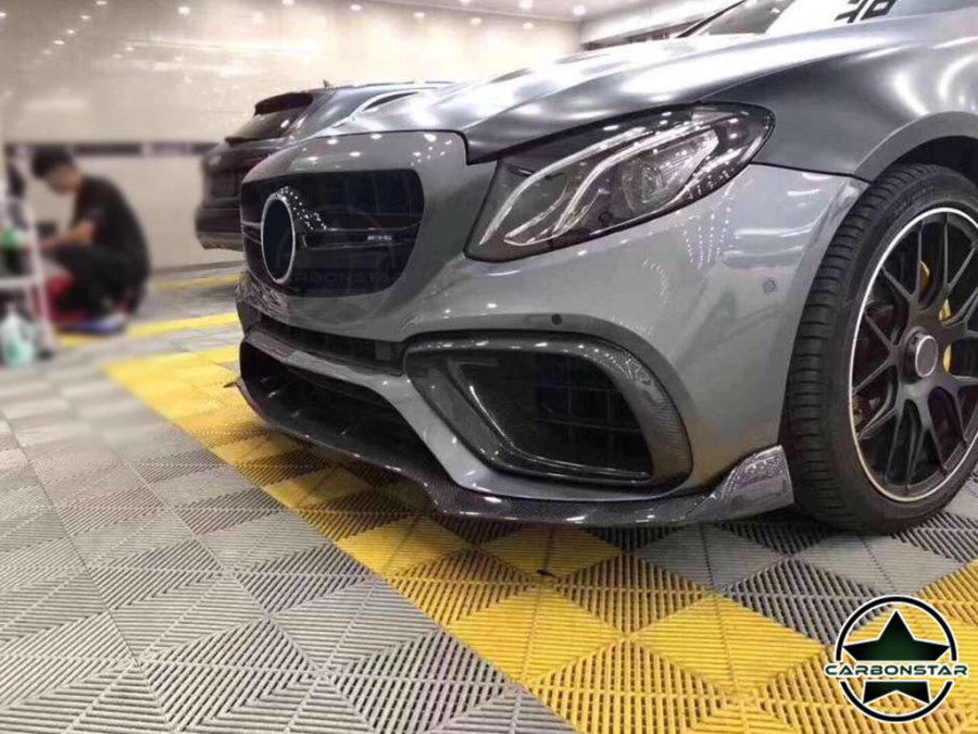 Cstar Carbon Gfk Stoßstange Abdeckung vorne Lufteinlass NSW für Mercdes Benz E Klasse W213 E63 AMG