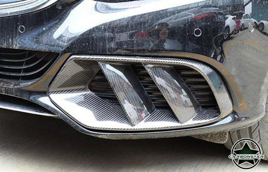 Cstar Carbon Gfk Lufteinlass Abdeckung vorne für Mercedes benz C Klasse W205 AMG