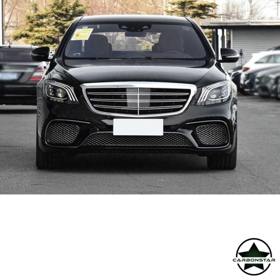 Cstar Carbon Gfk Leisten Stoßstange vorne für Mercedes Benz S W222 S63 S65 AMG 4 Türer
