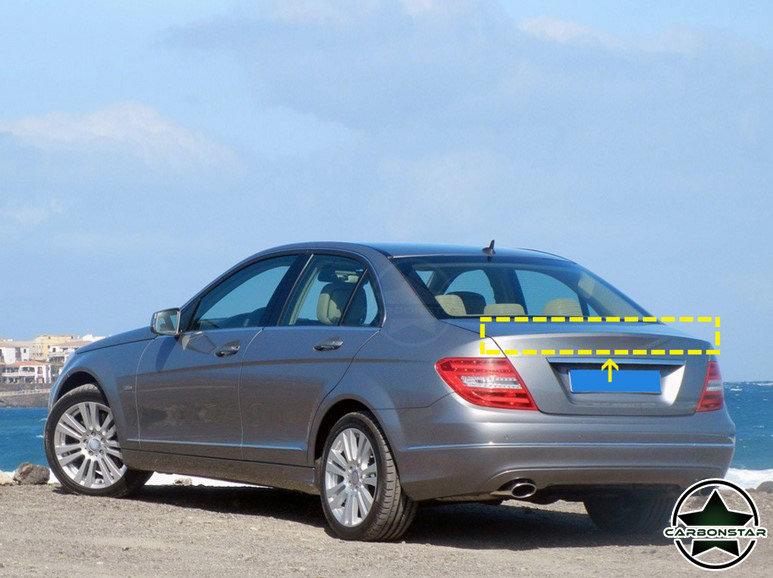 Cstar Carbon Gfk Heckspoiler R Rot für Mercedes Benz W204 Limousine Limo