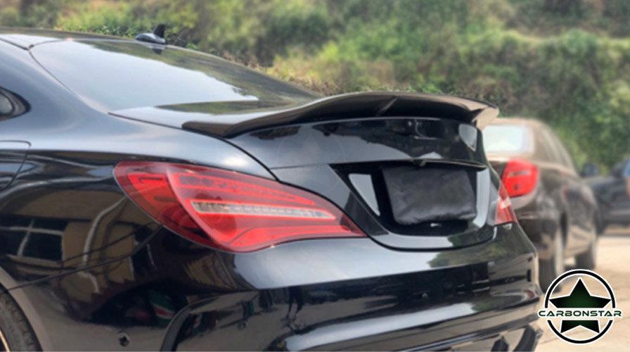 Cstar Carbon Gfk Heckspoiler Spoiler + Rote Linie für Mercedes Benz CLA W117 C17