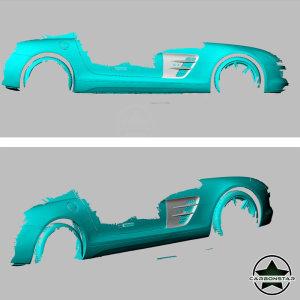 Cstar Carbon Kotflügel Abdeckung Einsätze für Mercedes Benz SLS AMG
