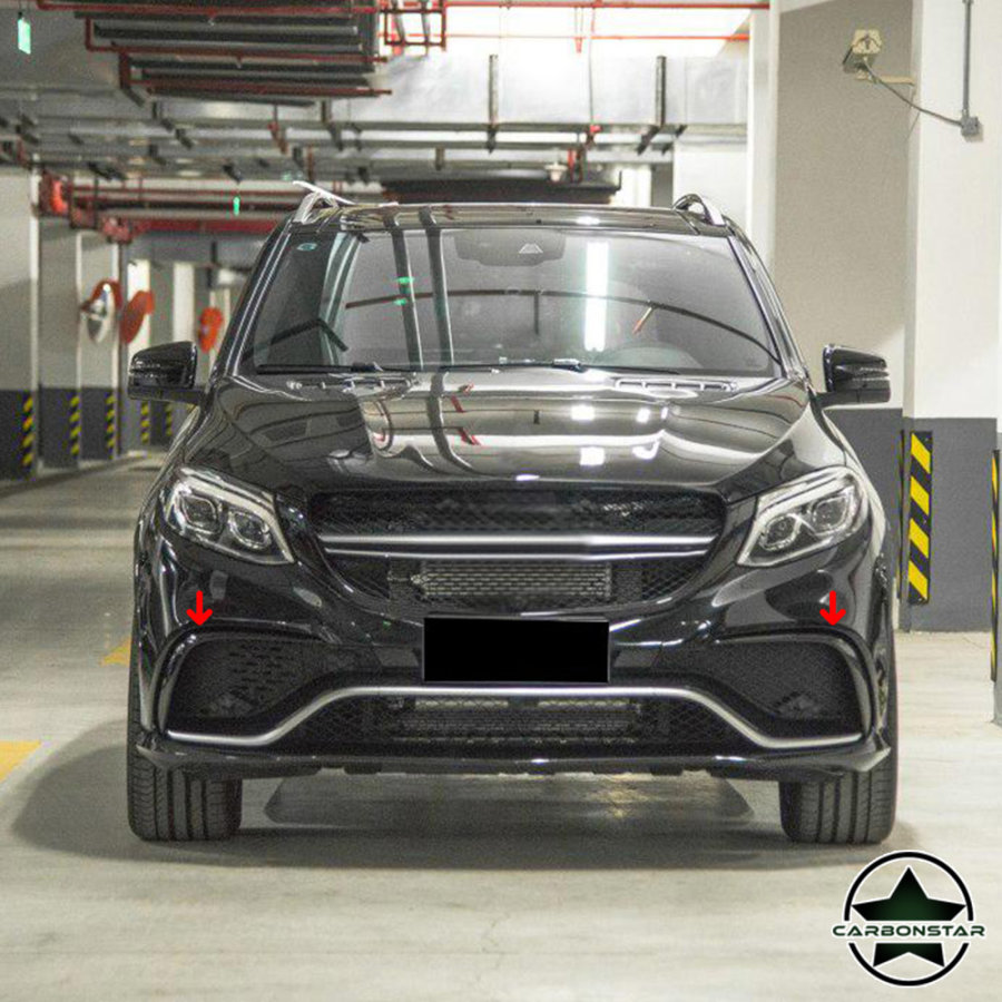 Cstar Carbon Gfk Splitter Flaps vorne für Mercedes Benz GLE GLE63 AMG Coupe