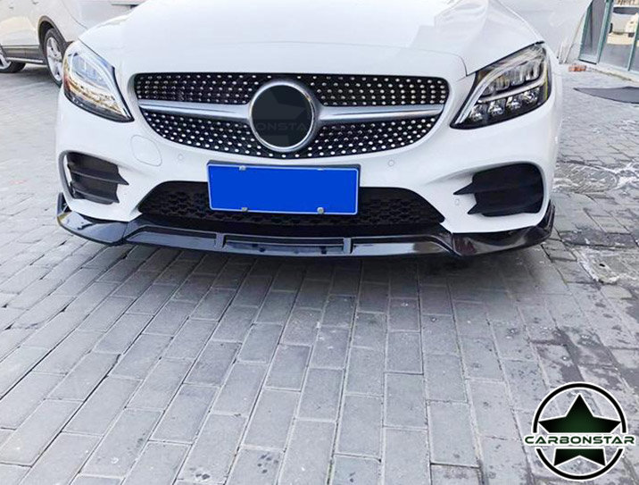 Cstar ABS Hochglanz Schwarz Frontlippe für Mercedes Benz C W206