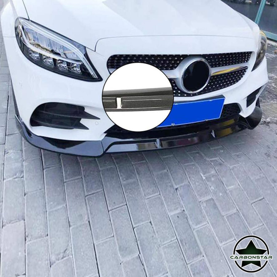 Cstar Carbon Gfk Frontlippe 3 tlg. für Mercedes Benz C W206 C300 etc