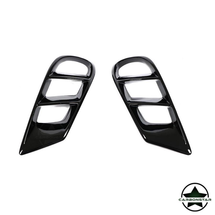 Cstar Gfk Lufteinlass Abdeckung Schwarz Hochglanz für Mercedes Benz CLS W218 CLS550