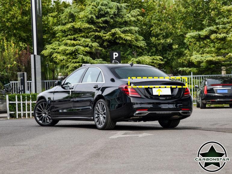 Cstar Carbon Gfk Heckspoiler R für Mercedes Benz W222 S Klasse Limousine Limo