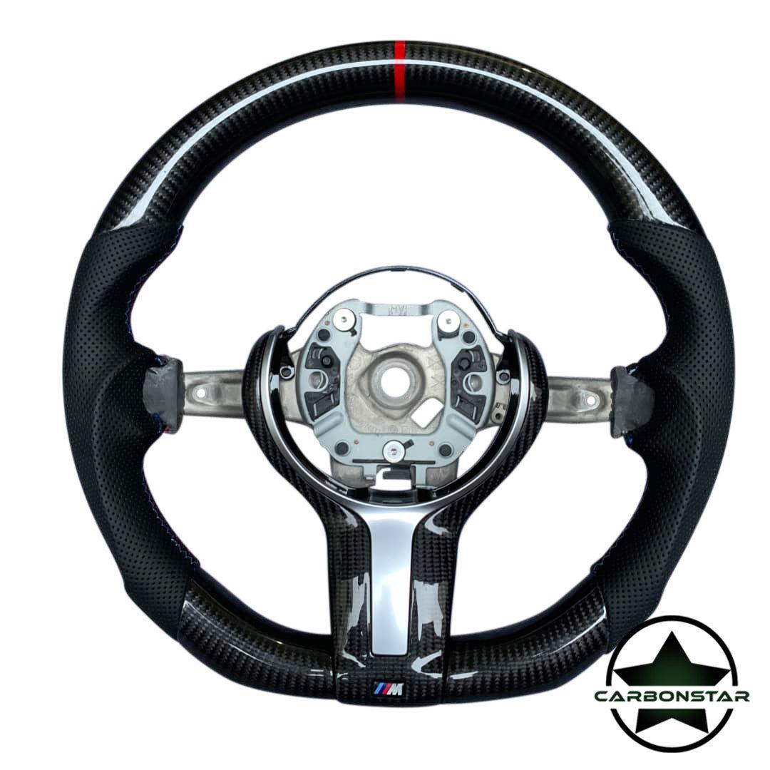 Cstar Carbon Lenkrad abgeflacht  passend für BMW M2 F87 M3 F80 M4 F82 F83 F20 F21 F22 F23 F45 F46 F30 F31 F34 F35 F32 F33 F36 F48 Competition
