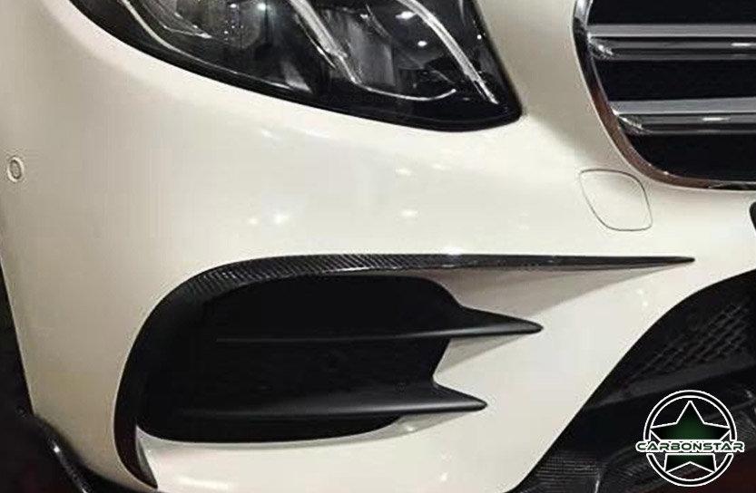 Cstar Carbon Gfk Canards Abdeckung Stoßstange vorne für Mercedes Benz W213 Limo