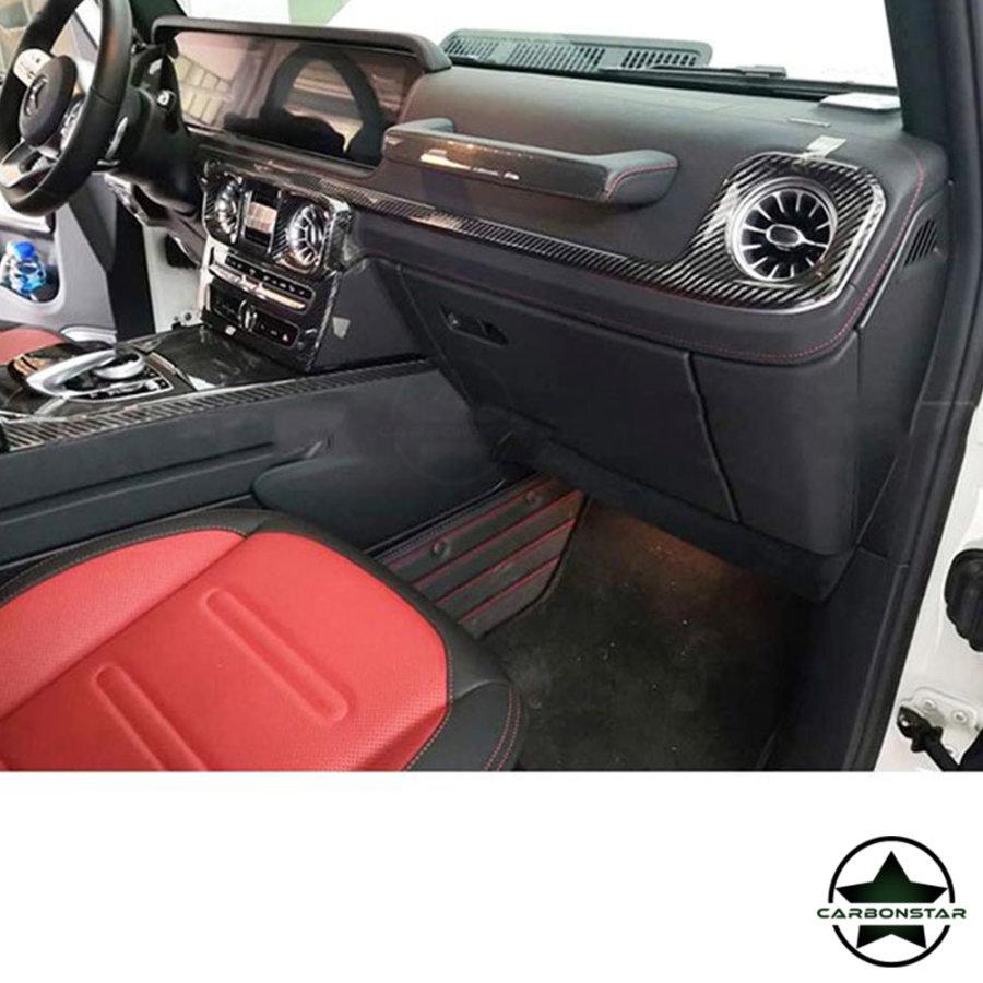 Cstar Carbon Innenraumleisten Interiorleisten Abdeckung Cover für Mercedes Benz G63 AMG G Klasse