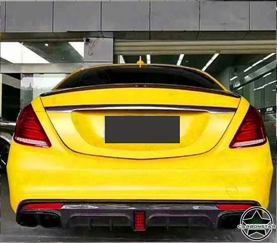 Cstar Carbon Gfk Heckdiffusor B für Mercedes Benz S W222 4 Türer